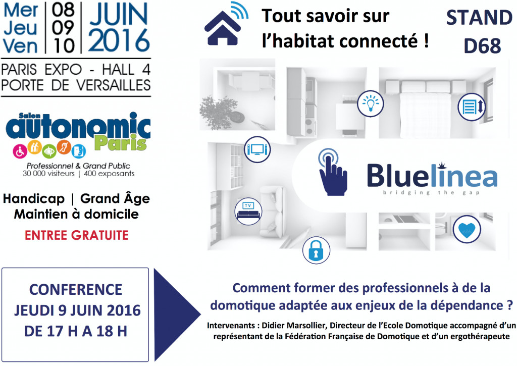 Jour j retrouvez bluelinea au salon autonomic de paris for Salon autonomic paris