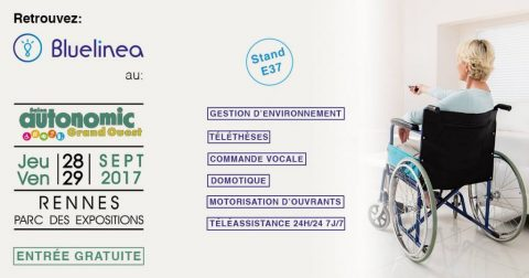Handicap & Domotique : Bluelinea au Salon Autonomic de Rennes